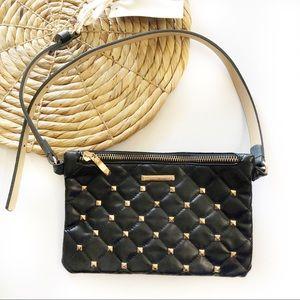 Adrienne Vittadini black studded belt bag